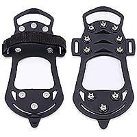 Startostar Traction Crampons pour bottes Chaussures de sport pour jogging Marche et randonnée Avec Pointes en métal pour éviter de glisser sur la glace et la neige