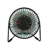 Saytay - Mini ventilatore USB con luci a LED, mostra l'ora, per portatili e computer fissi, regalo per la casa o l'ufficio (ventola orologio)