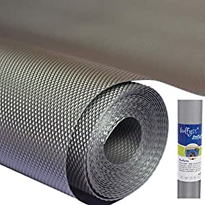 Bulfyss Multipurpose Textured Super Strong Anti-Slip Mat Liner - Size 45X500cm (5 Meter Roll, Grey)
