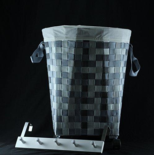 DonRegaloWeb - Cubo - Cesta para la ropa de nylon con ruedas de PVC redondo