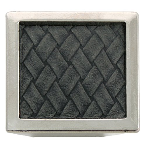 Liberty Nickel-knöpfe (Laurey 12299Churchill Knopf, quadratisch, 15/8Zoll, poliert Nickel/schwarz)