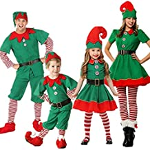 f4548159e POLP Niño Regalo Cosplay Bebe Disfraz Infantil para Navidad Unisex Niños  Dsifraces de Elfo Vestido Top