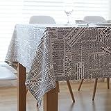 DKEyinx Quadratische englische Zeitung Tischdecke Baumwollleinen Tischdecke Schreibtisch Dekor, Baumwollleinen 60 * 60cm