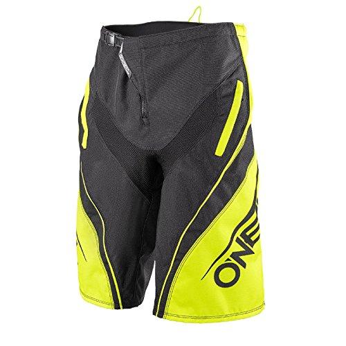 O'Neal Element FR Shorts Blocker Schwarz Neon Gelb Hi-Viz Hose MTB DH AM MX Enduro Offroad, 1078-4, Größe 34/50 -