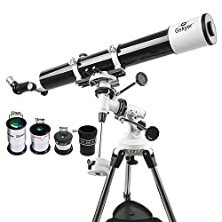 Gskyer EQ 80900 Telescope, German Technology Telescope,Starwatcher Refractors