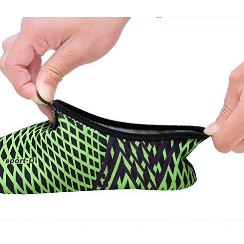 Miagolio Scarpe da Immersione da Scoglio Scarpette da Bagno Mare Spiaggia Ballo Yoga Materiale Traspirante Elastico Antiscivolo Super Leggere Unisex Scarpe Ragazzi Donna Uomini #3 Verde
