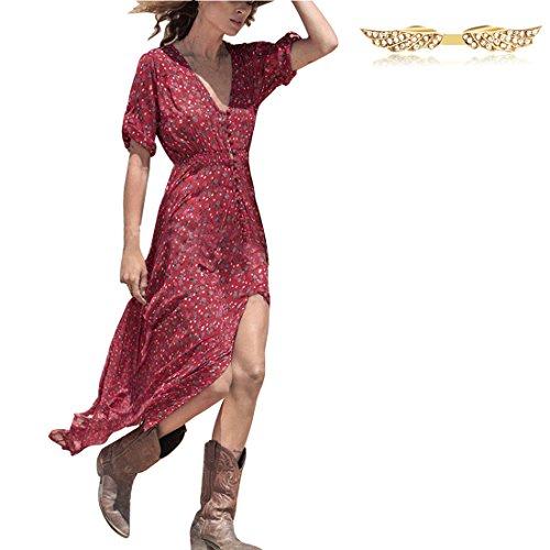 byd-da-donna-abito-vestiti-manica-corta-asimmetrico-stampato-diviso-endsmaxi-abito-vestito-da-casual