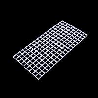 Dabixx Juego de separador de acuario para acuario, con ventosa, plástico, Blanco, 1 Set(30x15 cm)