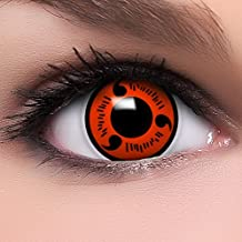 Anime Manga Sharingan 'Naruto' Coloured Contact Lenses with Case