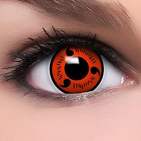 Qualité Halloween - FUNZERA®[Shanringan] Lentilles de Contact de Couleur Rouge-Noir