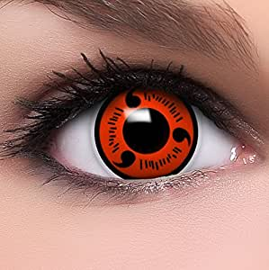 funzera shanringan lentilles de contact de couleur rouge noir naruot 10ml solution. Black Bedroom Furniture Sets. Home Design Ideas