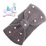 Muium Mode Keep Warm Handgemachte Stirnband Frauen Stricken Haarband (Grau)