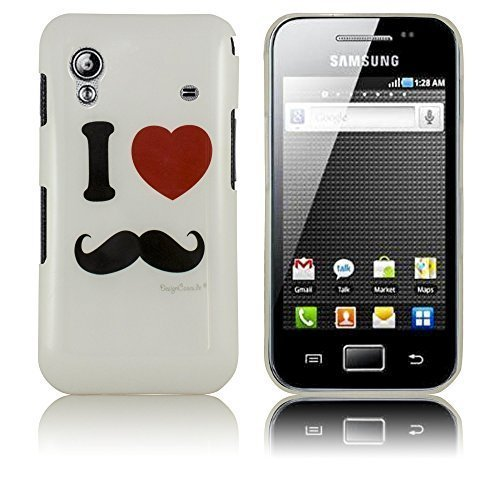 thematys Samsung Galaxy Ace S5830i S5839i Moustache Hard Case Schutz-Hülle Cover