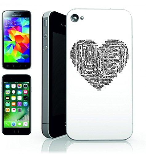 Smartphone Case Yoga della tipografia di tipo di testo parole di meditazione zen Buddha Buddismo della rilassante di Calma della serenità per Apple Iphone 4/4S, 5/5S, 5C, 6/6S, 7& Samsung Galaxy S