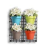Dmail - Vasi per fiori da parete, set di 4
