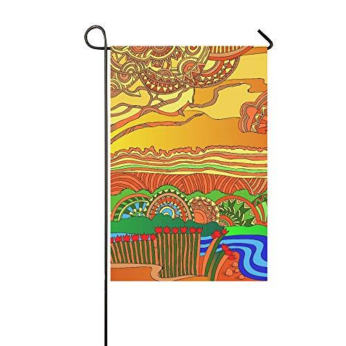 EIJODNL Home Dekorative Outdoorflagge mit dunkler Haut im Hintergrund der Gartenflagge, Gartenhof Flagge, Gartendekorationen, saisonale Willkommensflagge, 30,5 x 45,7 cm Houston, Usb