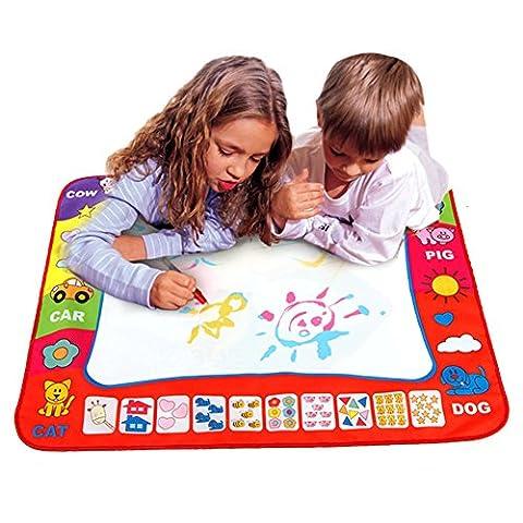 GSCH Doodle Magic Tapis De Dessins Tablette d'écriture Mat Aqua doodle Toy + 2 stylos magiques