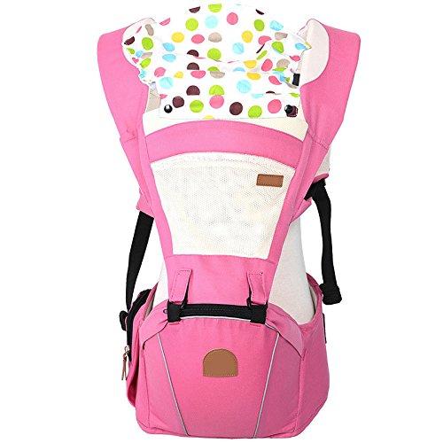 ThreeH Babytrage 3 in 1 Rucksack und Hüfttrage Ergonomischen Vorne und Hinten BC04,Pink