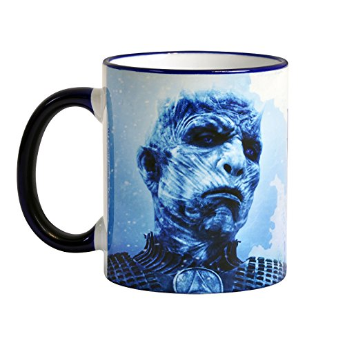 Kostüm Thrones Cersei Of Game - Elbenwald Game of Thrones Tasse Winter is Here Night King 320ml Keramik blau