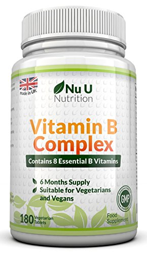 Vitamin B Complex 180 tablets (6 month supply) - Contains all Eight B Vitamins in 1 Tablet, Vitamins B1, B2, B3, B5, B6, B12, D-Biotin & Folic Acid Test