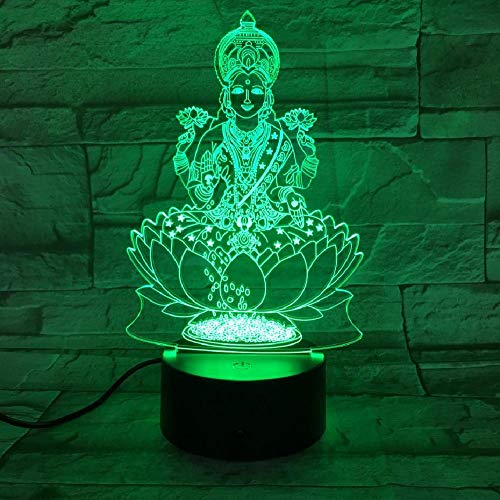 USB 3d Led Nachtlicht Hinduismus Visnu Figur Religion Gläubige dekorative Lichter RGB Mutter Mutter Geschenk Schreibtisch Lampe Schlafzimmer