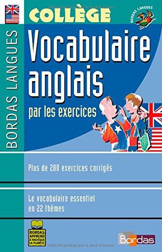 Bordas langues : Vocabulaire anglais par les exerc...
