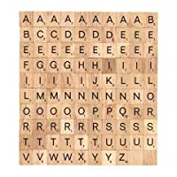 Artisan Gifts 100 Pieces Wooden Letters for Crafts Tiles Alphabets for Scrapbooking, Personalised Frame and Custom Wedding Art