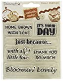 Trimcraft Curiosity Corner Clear Stamps-Sentiments