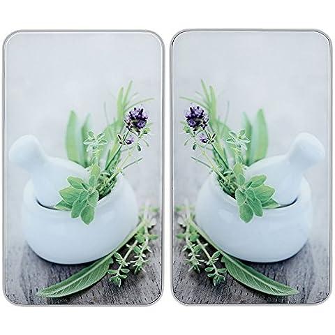 Wenko 2521420100 Universel Plaque de Protection Lot de 2 Pièces Jardin de Fines Herbes 52 x 30 x 4 c