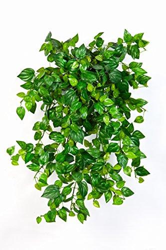 artplants – Kunst Mini Philo Busch PAVLUS mit 560 Blättern, grün, 50 cm – Deko Pflanze Hängend/Hängepflanze künstlich