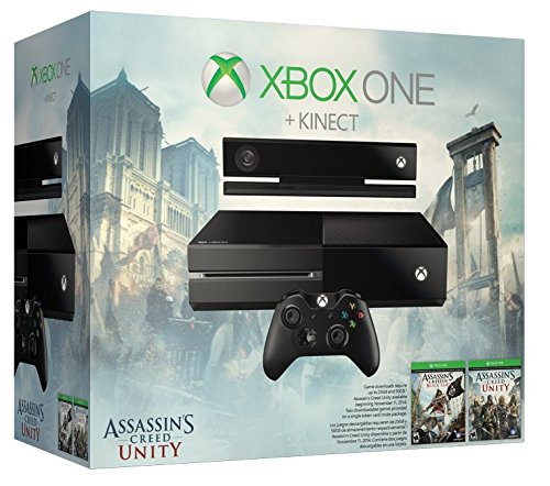 Microsoft Xbox One mit Kinect: Assassins Creed Unity Bundle, 500 GB Festplatte (Xbox One Mit Spiele-bundle)