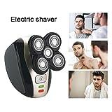Flexión De La Máquina De Afeitar Eléctrica para Hombres, Diseño Especial De La Máquina De Afeitar Multifuncional Rotatoria 360 En 5 En 1 para El Afeitado De Cabeza Calva Hombres