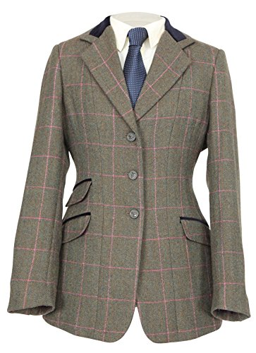 Shires Huntingdon Ladies Show Jacket - G/PCHK