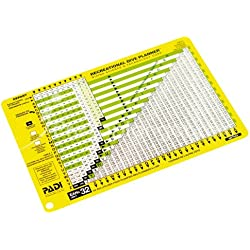 Padi Table de plongée Classique RDP Version Nitrox 32% O2 - VF
