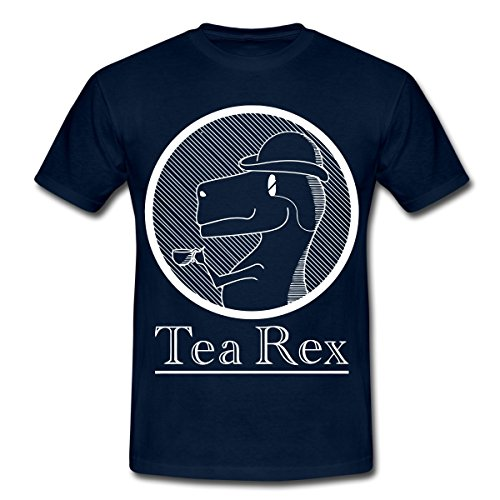 Spreadshirt Funny Tea Rex Illustration Men's T-Shirt
