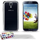 Muzzano Bumper Schützhülle Case Hülle mit 3ultraclear Displayschutzfolie für Samsung Galaxy S4i9500, Transparent