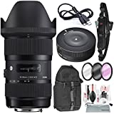 Sigma 18-35mm F/1.8 DC HSM Art Lens For Nikon With Sigma USB Dock, Xpix Deluxe Camera Cleaning Kit, And Accessory Bundle