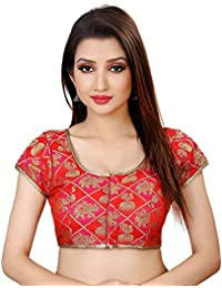 39b445175edb4 Amazon.in  Reds - Blouses   Ethnic Wear  Clothing   Accessories