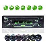 BETECK Autoradio mit Bluetooth Freisprecheinrichtung, 7 Farben LCD-Bildschirm, AM/FM/USB/TF MP3-Media-Player, Drahtlose Fernbedienung Enthalten