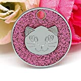 Jelly Collare per Cani Pet Dog Tag per Cani Pet Dog Tag Personalizzati per colletti per Animali Collane per Cani con Incisione Animali Domestici, A3, S