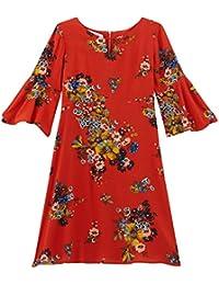 Promod Kleid mit Trompetenärmeln