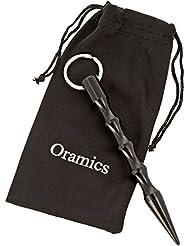 Oramics Kubotan Schlüsselanhänger mit Wellengriff und Druckverstärker verschiedene Farben, Selbstverteidigung Kubotan gewellt