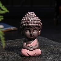 JETTINGBUY Estatua de Buda pequeña, figura india decorativa de pequeño monje