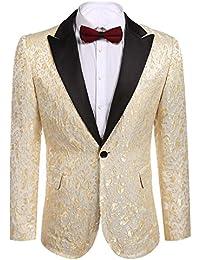 factory provide plenty of modern design Amazon.co.uk: Gold - Tuxedo Jackets / Suits & Blazers: Clothing