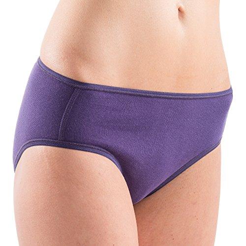 HERMKO 1031 3er Pack Damen Midi-Slip aus 100% Baumwolle Mix s/w/l