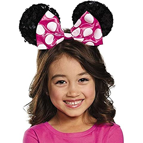 Pink Minnie Mouse Sequin Bow Child Ears Headband - Mouse Bow