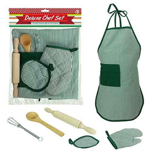 Giplar 6 Stück Chef Set Complete Kids Kitchen Geschenk Spielset für Kleinkind Karriere ()