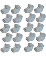 **Great Value** Baby 20 pairs Traditional Comfy Top Cotton Socks