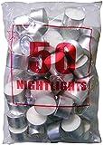 Tea night lights candles white tealights 8 HOUR BURN Bulk pack of 50