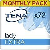 TENA Lady Extra Pacco Scorta Mensile - Assorbenti per perdite urinarie femmnili, discreti e confortevoli, 6 confezioni x 12 pezzi